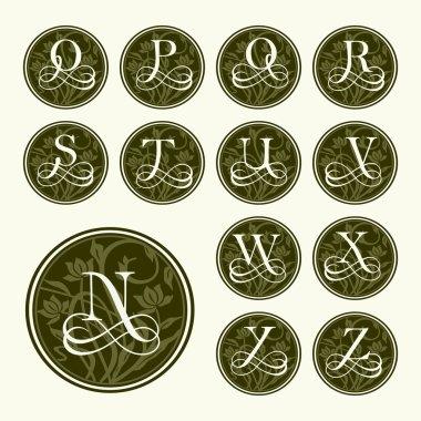 Vintage set capital letter