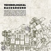 Photo Retro technological background