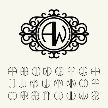 Set  template letters to create monograms