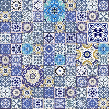 Mega Gorgeous seamless patchwork pattern
