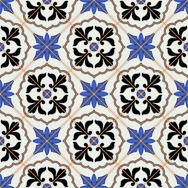 Gorgeous seamless pattern from Moroccan tiles