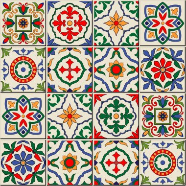seamless  pattern from  Moroccan, Portuguese