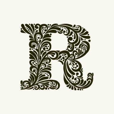 Elegant capital letter R