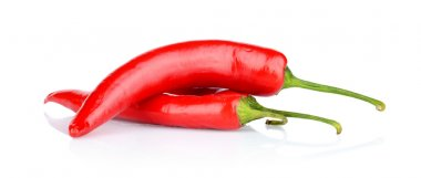 Red peppers, chilli isolated on white background