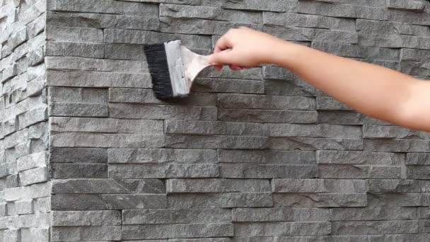 Painted protect color for new stone wall