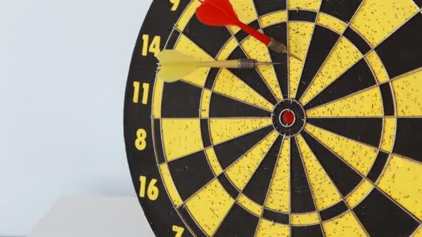 Darts arrows in the target