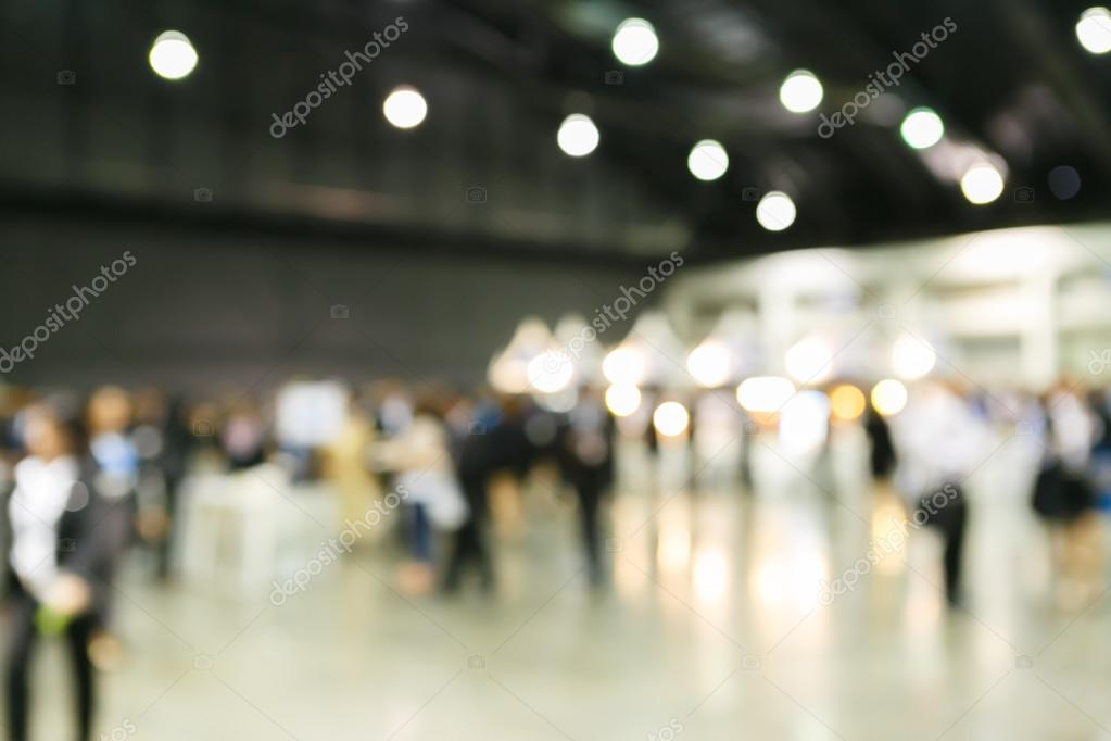 people at exhibition fair