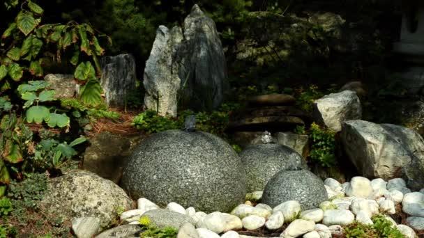 fontána kámen a japonská zahrada