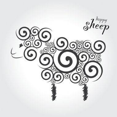 illustration cartoon  sheep