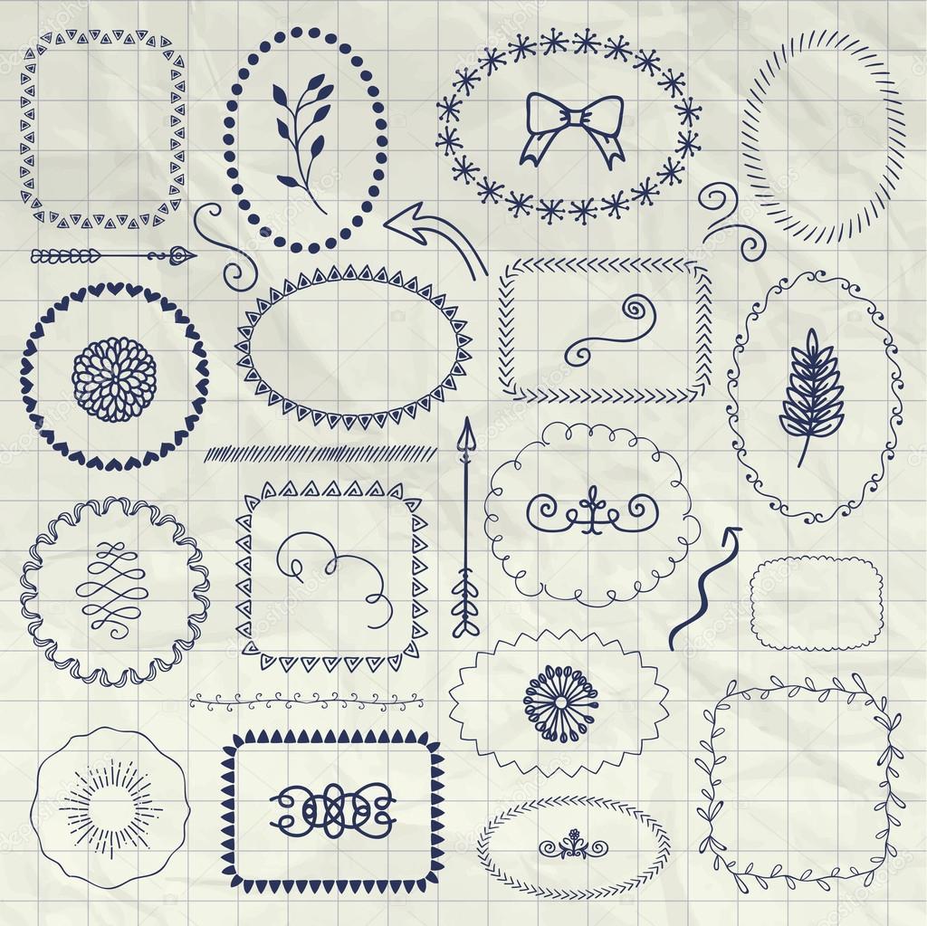 Margenes Decorativos Para Cuadernos Pluma Decorativa