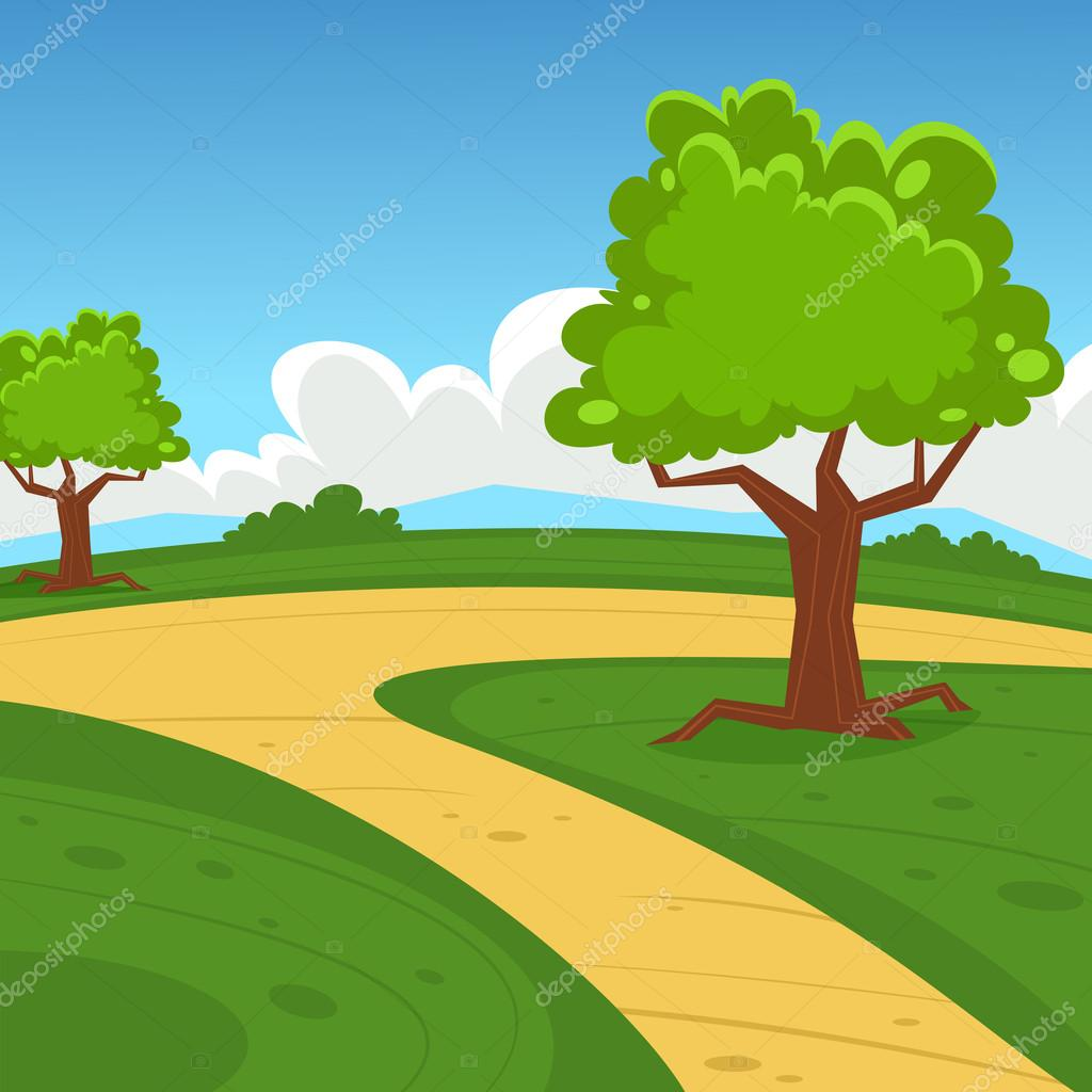 cartoon landscape  u2014 stock vector  u00a9 alexm83  56608915
