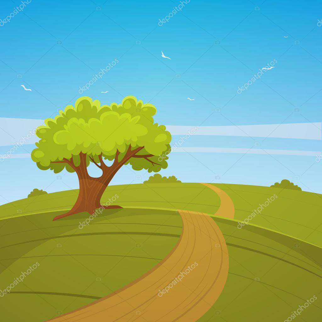 Dessin De Route route de campagne — image vectorielle alexm83 © #60296597