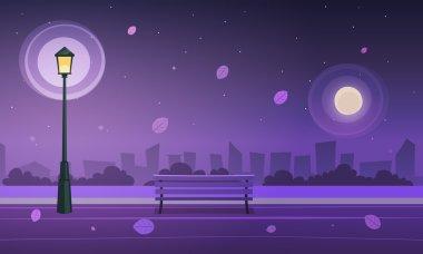"Картина, постер, плакат, фотообои ""ночь в парке города "", артикул 66105493"