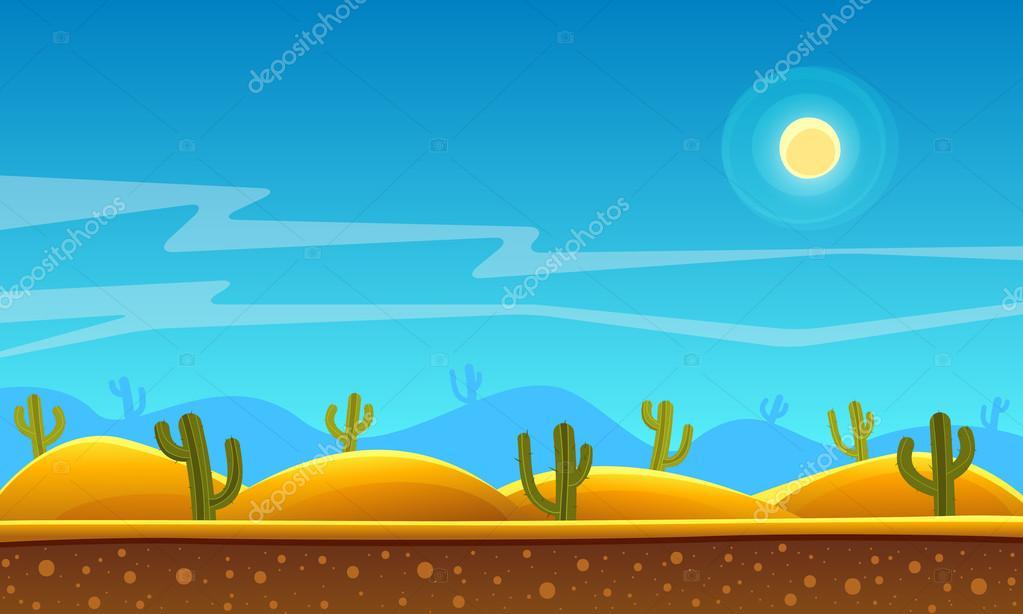 Desert Cartoon Background Stock Vector C Alexm83 66105315