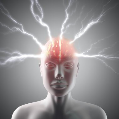 Lightning in the head and brain