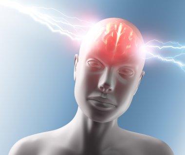 Human with Headache