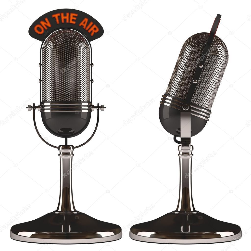 old classic microphones stock photo ktsdesign 63211481