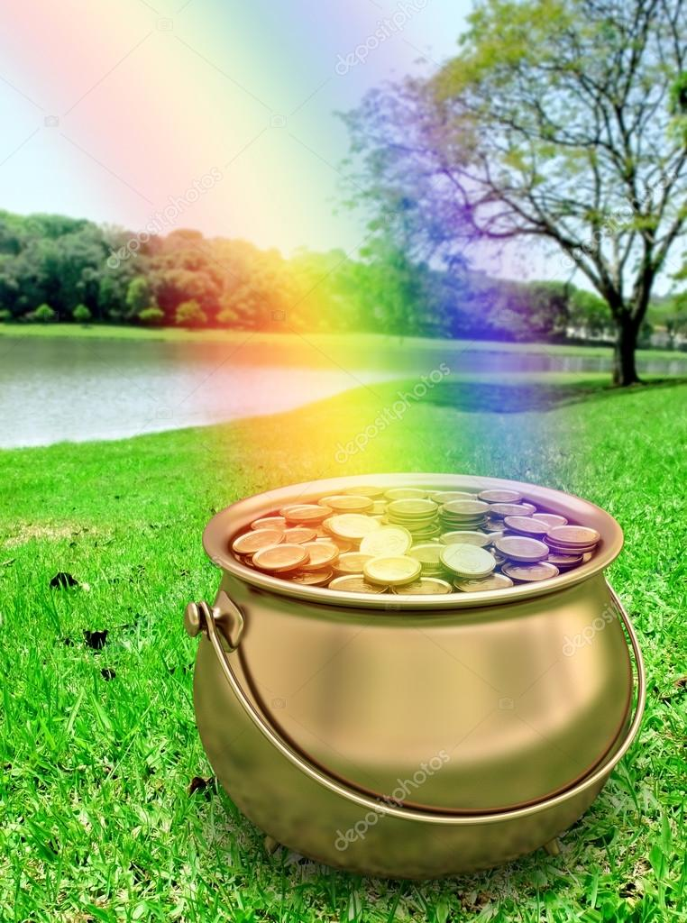 A pot of gold at the end of the rainbow.