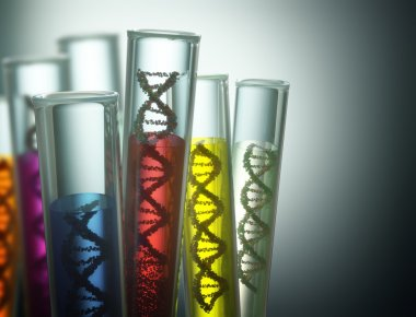 Test tube with dna inside