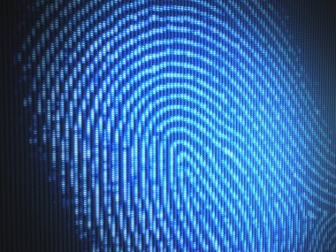 Fingerprint on a led screen