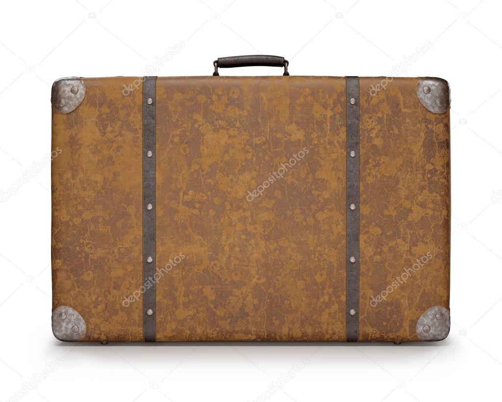 Alte koffer leder und rost auf metall stockfoto - Alte koffer dekorieren ...