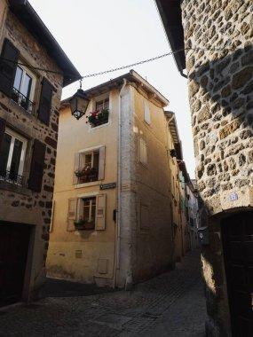 Cityscape urban panorama of historic architecture town Le Puy-en-Velay Haute Loire Auvergne Rhone Alpes France