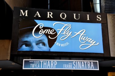 NYC: Marquee of Marquis Theatre in Times Square