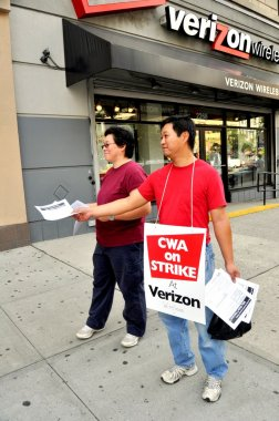 NYC: Striking Verizon Workers