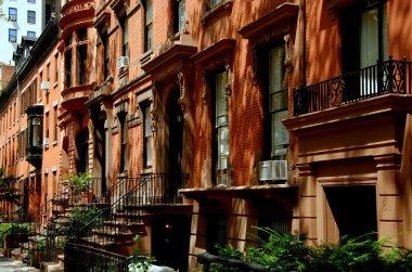 Brooklyn Heights, NY: Row of Brick Brownstones