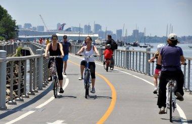 NYC: Bikers in Riverside Park