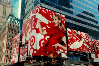 NYC:  Advertising for Target Stores in Times Square