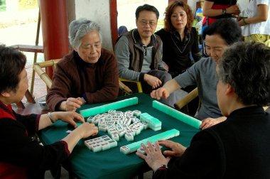 Chengdu, China: Women Playing Mahjong