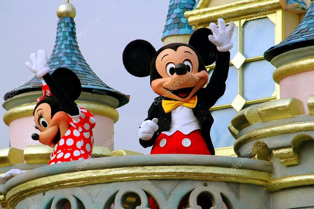 Hong Kong, China: Mickey and Minnie Mouse at Disneyland