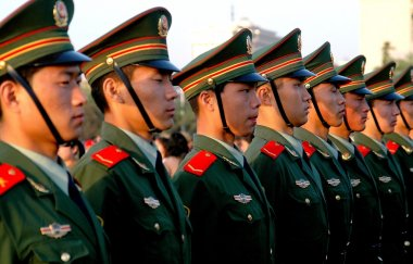 Beijing, China: Chinese Soldiers in Tiananmen Square