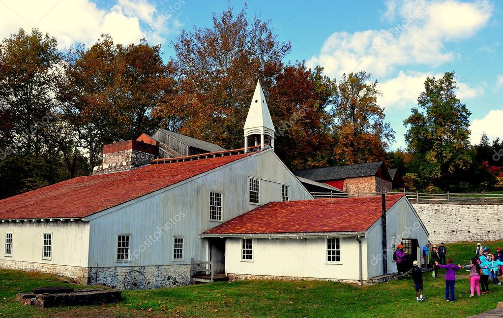 Hopewell fornace pennsylvania cast casa fonderia foto for Piani casa pa