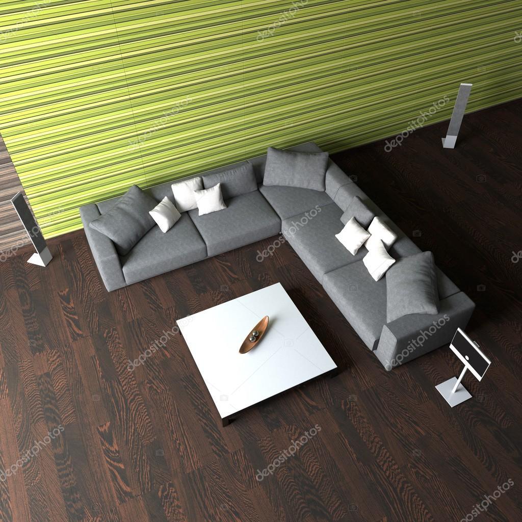Modernes Interieur im Stil des Minimalismus — Stockfoto ...