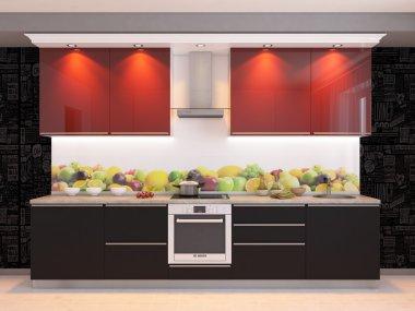 3d kitchen interier