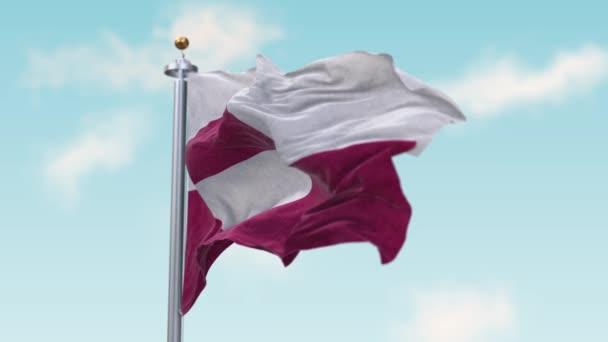 Waving Flag of Greenland