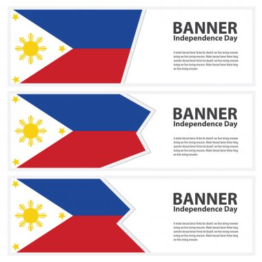 Philippines Flag banners collection independence day