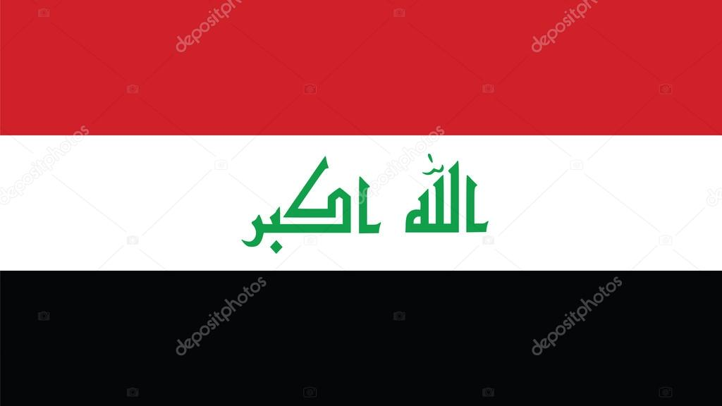 Iraq Flag for Independence Day and infographic Vector illustrati