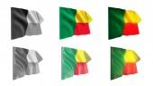 Benin vlají sada 6 v 1 kobylku styly