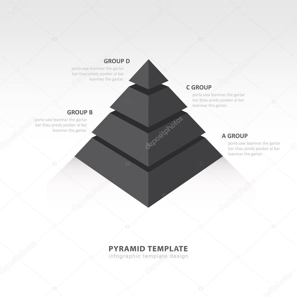 pyramid infographic template black color balance — Stock Vector ...
