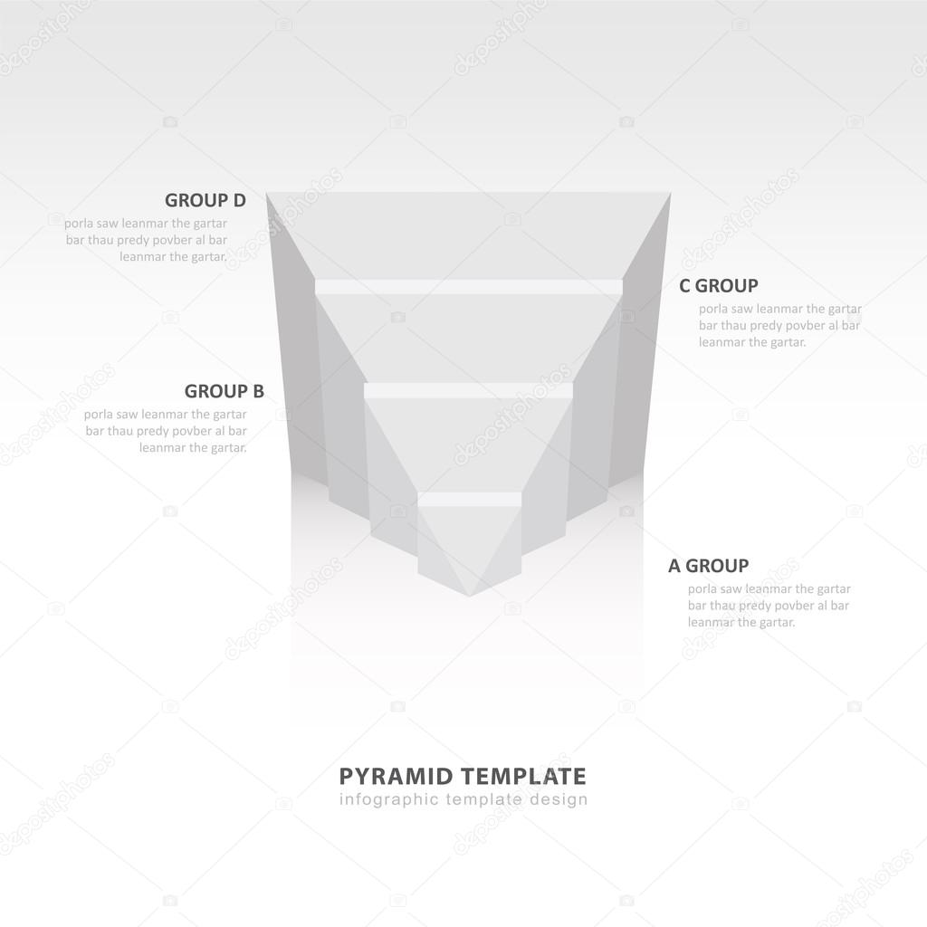 design pyramid infographic template white color balance — Stock ...