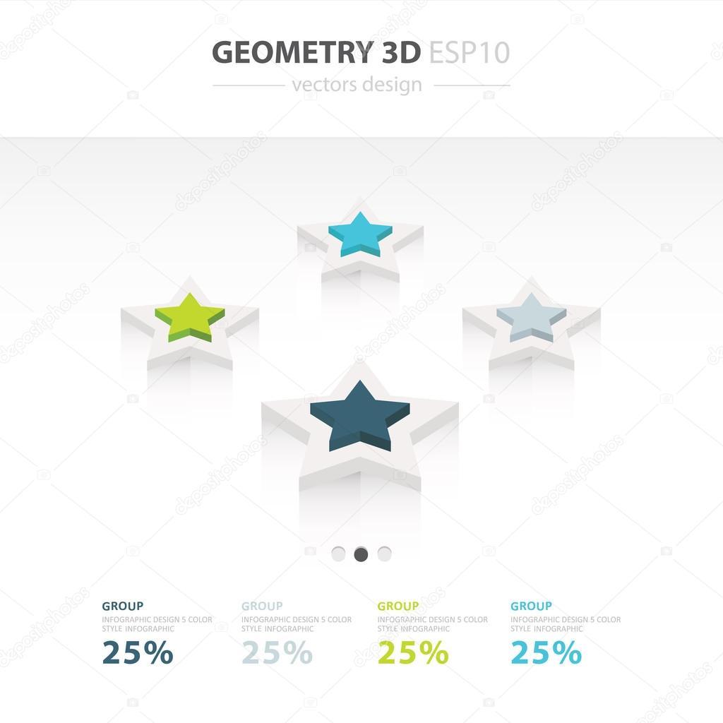 Stern-Symbole Infographik Vorlage 4 Farbe — Stockvektor © foxroar ...