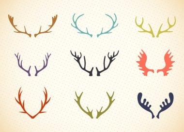 Reindeer Antlers Illustration in Vector.