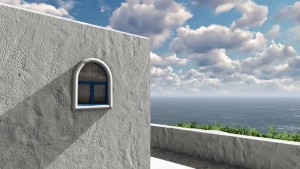 Balkon s výhledem na Středozemní moře