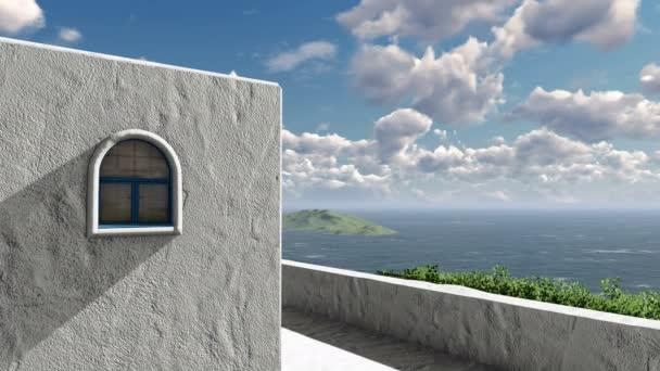 Středomořské dům s výhledem na moře