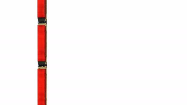 Frachtzug Container auf weißem Hintergrund Luftaufnahme loopable Animation