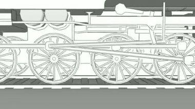 Car engine blueprint stock videos royalty free car engine blueprint old steam train close up outline sketch animation stock video malvernweather Choice Image