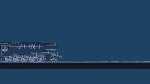 Train moving in fog ancient steam locomotive in night night train steam train blueprint cartoon animation malvernweather Image collections